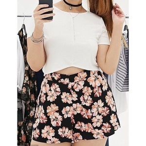 Forever 21 Floral Print Flowy Shorts